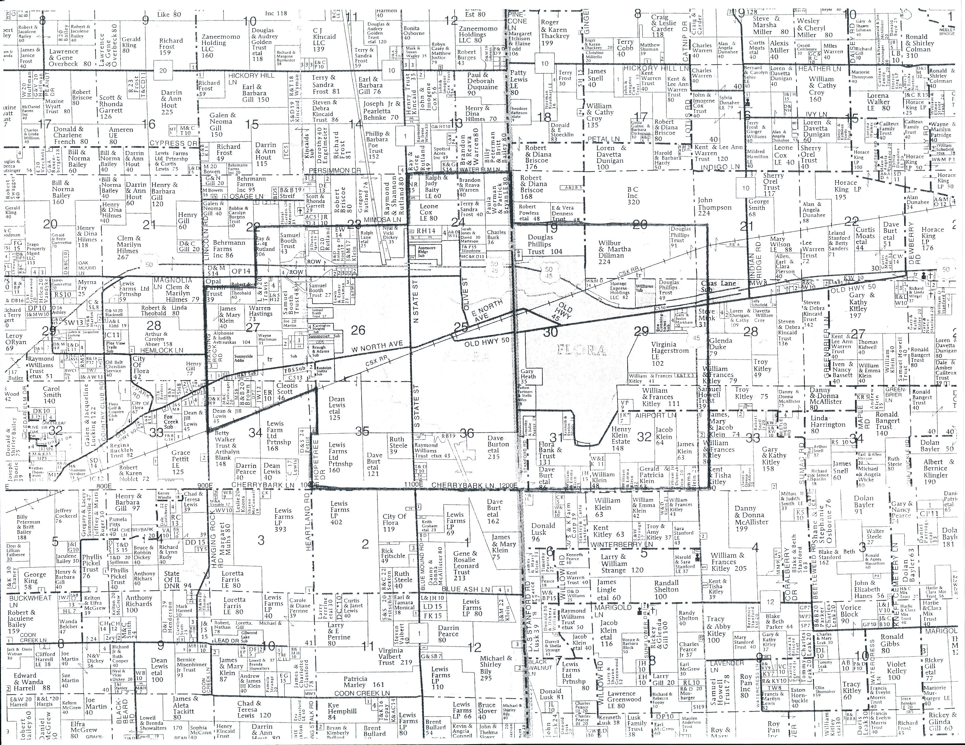 Map Of Flora Il Free Download Oasis Dl Co